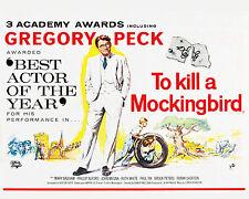 To Kill a Mockingbird Movie Poster - 8x10 Color Photo
