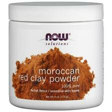 3x Now Foods Solutions Moroccan Red Clay Facial Detox Powder 100 Pure Daily