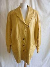 Ladies Coat - Valenino Pelle, size XL, yellow leather, very nice, statement 2461