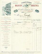 Dépt 33 - Bordeaux - Belle Parfumerie Bijon Erizma du 31/01/1926 - A Voir !!!!!!