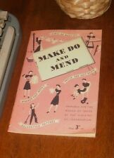 World War Two Make Do and Mend Book WW2 1942 Clothes Home Front Fashion