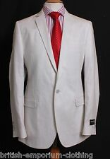 DOLCE & GABBANA D&G Cream 100% WAXED LINEN Suit Jacket UK38 IT48 BNWT