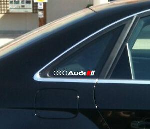 AUDI A3 A4 A6 A8 RS3 RS4 RS6 Q5 Q7 TT S Line Decal sticker emblem logo W (Pair)