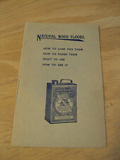 """RARE circa 1890 Advertising Booklet~""""BERRY BROTHERS VARNISH""""~Wood Floors~"""