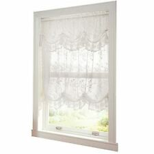 Collections Etc Allison Balloon Lace Curtain And Valance White