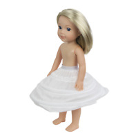 """White Slip Hoop Skirt Crinoline For 14.5"""" Wellie Wishers Doll Clothes Accessory"""