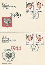Poland FDC (Mi. 3207-10) 45 years republic #2