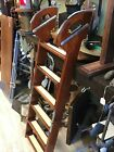 Wood And Brass Boat Ladder 6 Steps 52 Long Open 30 Folded Beautiful Hardware