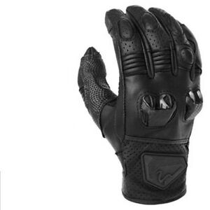 Summer Breathable Motorcycle Riding Gloves Full Finger Racing Black Polyester