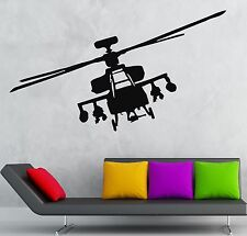 Helicopter Wall Stickers Vinyl Decal Army Military War Kids Room (ig818)