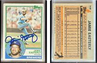 Jamie Easterly Signed 1983 Topps #528 Card Milwaukee Brewers Auto Autograph