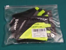 Trideer Cycling Biking Bike MTB Half Finger Gloves Black Green Small Gel Palm