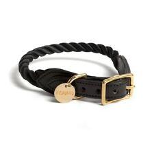 FOUND MY ANIMAL Black Nylon & Leather Dog Collar Small
