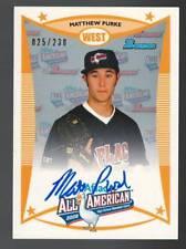 MATT PURKE 2008/2012 Bowman AFLAC Autograph #025/230 On-Card Auto Nationals