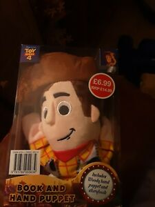 **NEW** Official Disney Pixar Toy Story 4: Woody Book and Hand Puppet Set Boxed