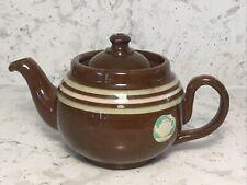 ALB Striped Ridgeway 12 Oz. Teapot BROWN BETTY Alcock Lindley & Bloore England