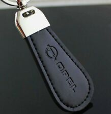 Black PU Leather Drop Keyring For Opel Car Logo Key Ring Keychain Gift