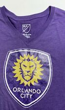 Major League Soccer MLS Orlando City T-shirt Girls XL 14/16 Purple Gold Lion