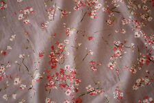 NEW Curtain Home Decor Fabric Material Beige Floral Cotton 1 Metre x140cm