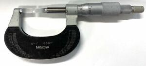 "Mitutoyo 122-125 Blade Micrometer, 0-1"" Range, .0001"" Graduation"
