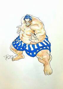 Fan art,original drawing color pencils,fantasyart,Street Fighter, Edmond Honda