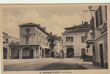 NP0614 - SAN DAMIANO D'ASTI - VIA ROMA VIAGGIATA 1935