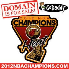 2012 NBA CHAMPIONS .COM - MIAMI HEAT - Basketball - Domain Name - GoDaddy