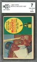 Willie Mccovey Rookie Card 1960 Topps #316 San Francisco Giants BGS BCCG 7