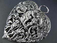 Elaborate English Sterling DESK CLIP figural cherubs angel Wm Comyns London 1888