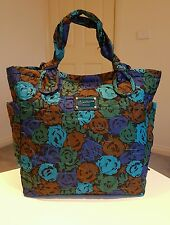 Marc by Marc Jacobs Azure & Aegean Blue Floral Shopper/ Tote / Carrying Bag