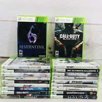 Xbox 360 Lot of 20 Video Games Assassins Resident Evil Tomb Raider Call Of Duty