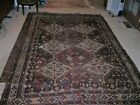 FANTASTIC TOP NOTCH COLORFUL ANTIQUE 1920'S AUTHENTIC CHICKEN QASHQAI RUG 6X9