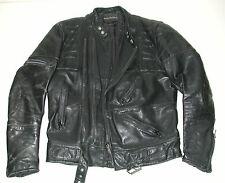 Vintage HARLEY DAVIDSON Men's Black Leather Motorcycle Biker Jacket, SZ: 44 Tall