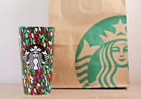 Starbucks Holiday 2019 Confetti Christmas 12oz Ceramic Travel Cup Tumbler Mug