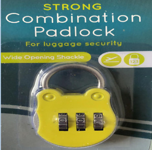 Padlock 3 Digit Combination Strong Durability Convenient for Security, Bag Lock