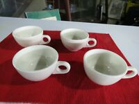 Vintage Homer Laughlin China Restaurant Ware White Coffee Cups Set of 4
