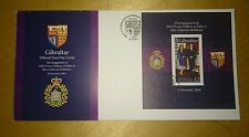 Royal Engagement HRH Prince William Kate Catherine MS stamp Gibraltar FDC 2011