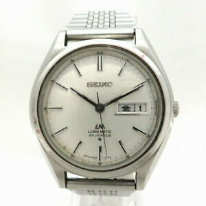 SEIKO LORD MATIC 5606-7070 23Jewels Day-Date Hand Winding Silver Dial Watch