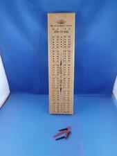 CRIBBAGE BOARD GAME E.S. LOWE A MILTON BRADLEY COMPANY VINTAGE WOOD MADE TAIWAN