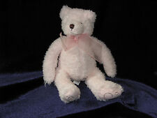 BATH AND & BODY WORKS PINK TEDDY BEAR STUFFED PLUSH CUBBY SMALL MINI BEAN BAG 7""