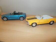 Welly diecast models Chevy Chevelle and BMW  Z4