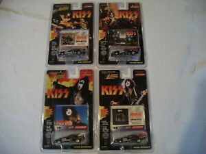 4 JOHNNY LIGHTNING KISS Funny Cars Simmons, Criss, Stanley Frehley 1:64 Diecast