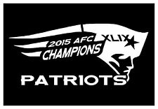 NEW ENGLAND PATRIOTS STICKER - AFC CHAMPIONS - MULTIPLE COLORS - XLIX  #NEP70