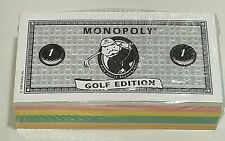 Monopoly Golf Edition Replacement MONEY Cash NEW