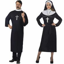 Couples Comedy Fancy Dress Nun Priest Costumes