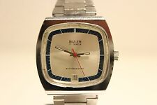 "VINTAGE RARE BEAUTIFUL TV MODEL MEN'S SWISS MECHANICAL WATCH""BULER""/NICE DIAL"