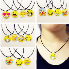 EMOJI Emoticons Cute Pendant Charms Necklace For Women Girl Jewelry Gift Decor
