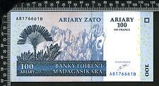 Madagascar : 100 Ariary - 500 Francs 2004 (01) - France : franco de port