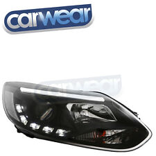 FORD FOCUS 5 DOOR LW TURBO 13-15 BLACK DRL LED PROJECTOR HEAD LIGHT