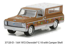 Greenlight 1:64 Holiday Ornaments 1972 Chevrolet C-10 with Camper Shell 37120-D
